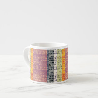 Medieval Multi-color Manuscripts 6 Oz Ceramic Espresso Cup
