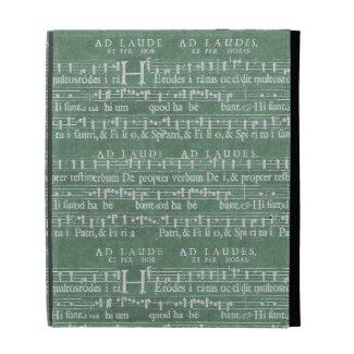 Medieval music manuscript ipad case
