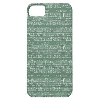 Medieval Music Manuscript Iphone 5 Case by DigitalDreambuilder at Zazzle