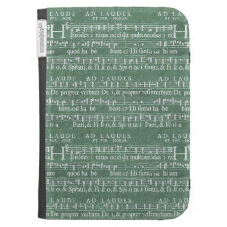 Medieval Music Manuscript Kindle Case