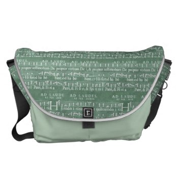 Medieval Music Manuscript Large Messenger Bag by DigitalDreambuilder at Zazzle