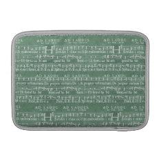 Medieval Music Manuscript Macbook Air 11