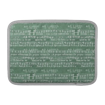 "Medieval Music Manuscript Macbook Air 11"" Sleeve by DigitalDreambuilder at Zazzle"
