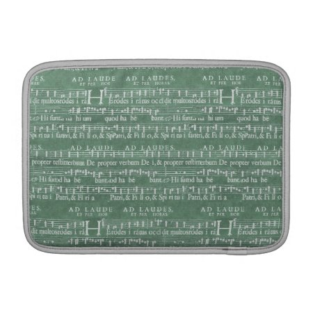 "Medieval Music Manuscript Macbook Air 11"" Sleeve"