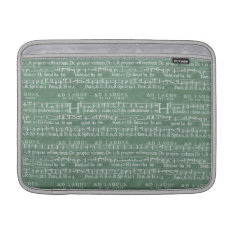 Medieval Music Manuscript Macbook Air 13