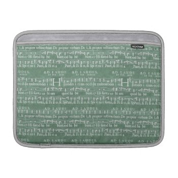 "Medieval Music Manuscript Macbook Air 13"" Sleeve by DigitalDreambuilder at Zazzle"