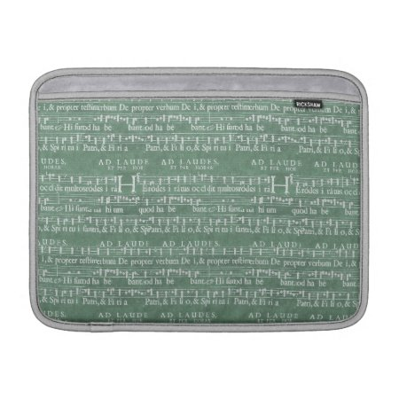 "Medieval Music Manuscript Macbook Air 13"" Sleeve"