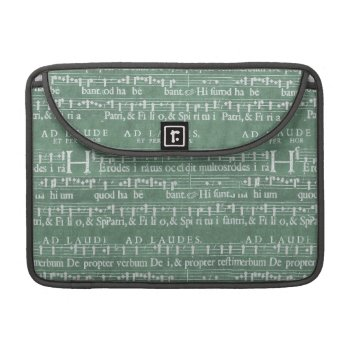 "Medieval Music Manuscript Macbook Pro 13"" Sleeve by DigitalDreambuilder at Zazzle"