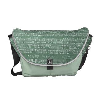 Medieval Music Manuscript Medium Messenger Bag