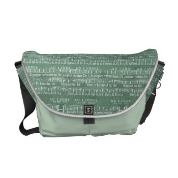 Medieval Music Manuscript Medium Messenger Bag by DigitalDreambuilder at Zazzle