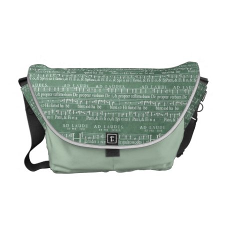 Medieval Music Manuscript Medium Messenger Bag
