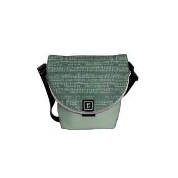 Medieval Music Manuscript Mini Messenger Bag by DigitalDreambuilder at Zazzle