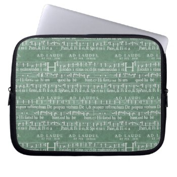 "Medieval Music Manuscript Neoprene Sleeve 10"" by DigitalDreambuilder at Zazzle"