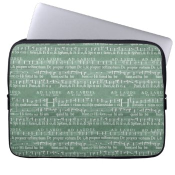 "Medieval Music Manuscript Neoprene Sleeve 13"" by DigitalDreambuilder at Zazzle"