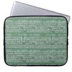 Medieval Music Manuscript Neoprene Sleeve 15