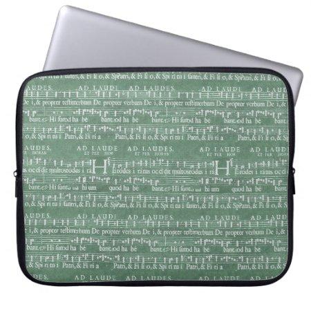 "Medieval Music Manuscript Neoprene Sleeve 15"""