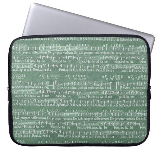 """Medieval Music Manuscript Neoprene Sleeve 15"""" Laptop Sleeves"""