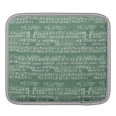 Medieval Music Manuscript Rickshaw Ipad Sleeve at Zazzle