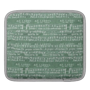Medieval Music Manuscript Rickshaw Ipad Sleeve by DigitalDreambuilder at Zazzle