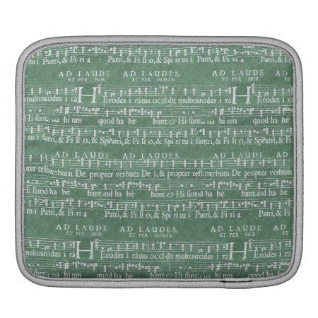 Medieval Music Manuscript Rickshaw Ipad Sleeve