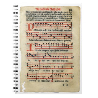 Medieval Music Score Notebook