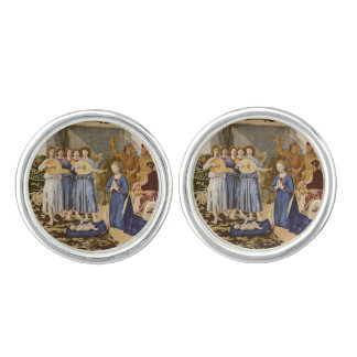 Medieval Musicians Play Music for Jesus Cufflinks