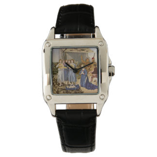 Medieval Musicians Play Music for Jesus Wrist Watch
