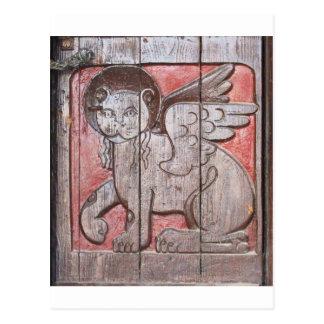 Medieval Mythological Lion -  Lion Of Saint Mark Postcard