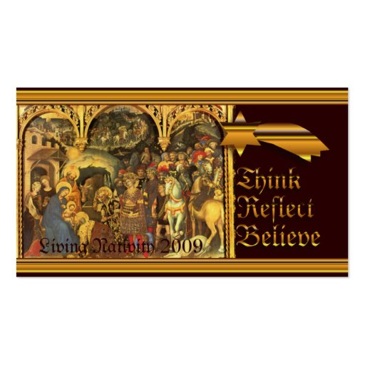 Medieval Nativity Double-Sided Standard Business Cards (Pack Of 100)