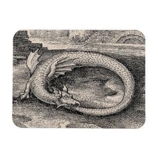 Medieval Ouroboros Dragon Rectangular Photo Magnet