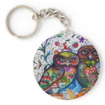 Medieval owls 1 keychain