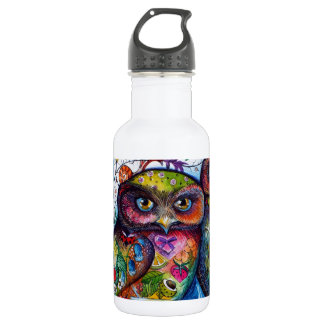 Medieval owls 1 water bottle
