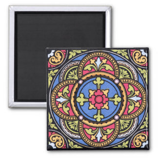 Medieval Pattern 2 Inch Square Magnet
