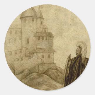 Medieval Etiquetas Redondas