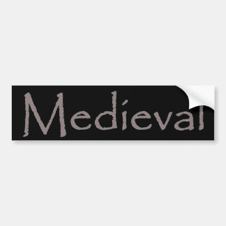 Medieval Pegatina Para Auto