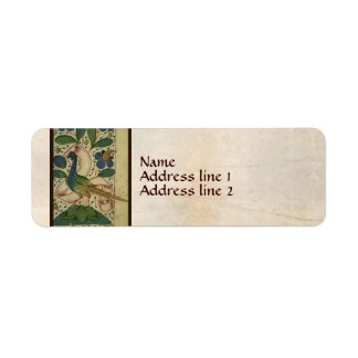 Medieval Pheasant Address Labels