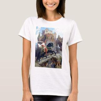 Medieval Prince black horse gnomes castle T-Shirt