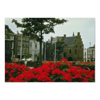 "Medieval Prison In The Hague flowers 5"" X 7"" Invitation Card"