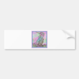 Medieval Rainbow Unicorn Bumper Sticker