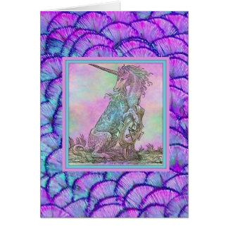 Medieval Rainbow Unicorn Card