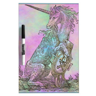 Medieval Rainbow Unicorn Dry Erase Whiteboards