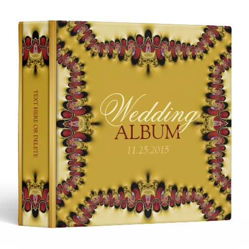 Medieval Red Gold Lace Wedding Album Binder