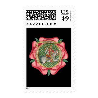 Medieval Red Rose Postage