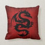 Medieval Red Velvet Cushion Throw Pillows