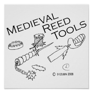 Medieval Reed Tools Poster