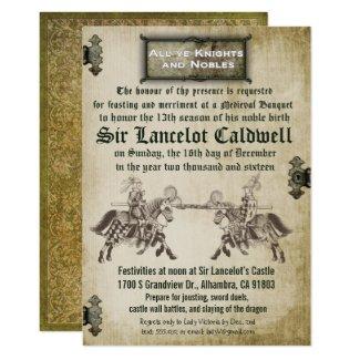 Medieval Renaissance Birthday Wedding Invitation
