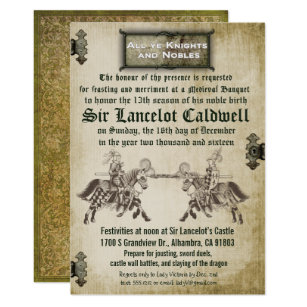 Medieval invitations announcements zazzle medieval renaissance birthday wedding invitation stopboris