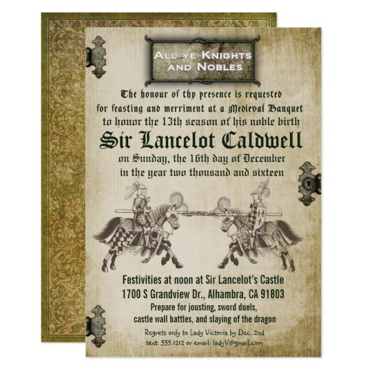 Medieval Invitations Announcements – Medieval Birthday Invitations