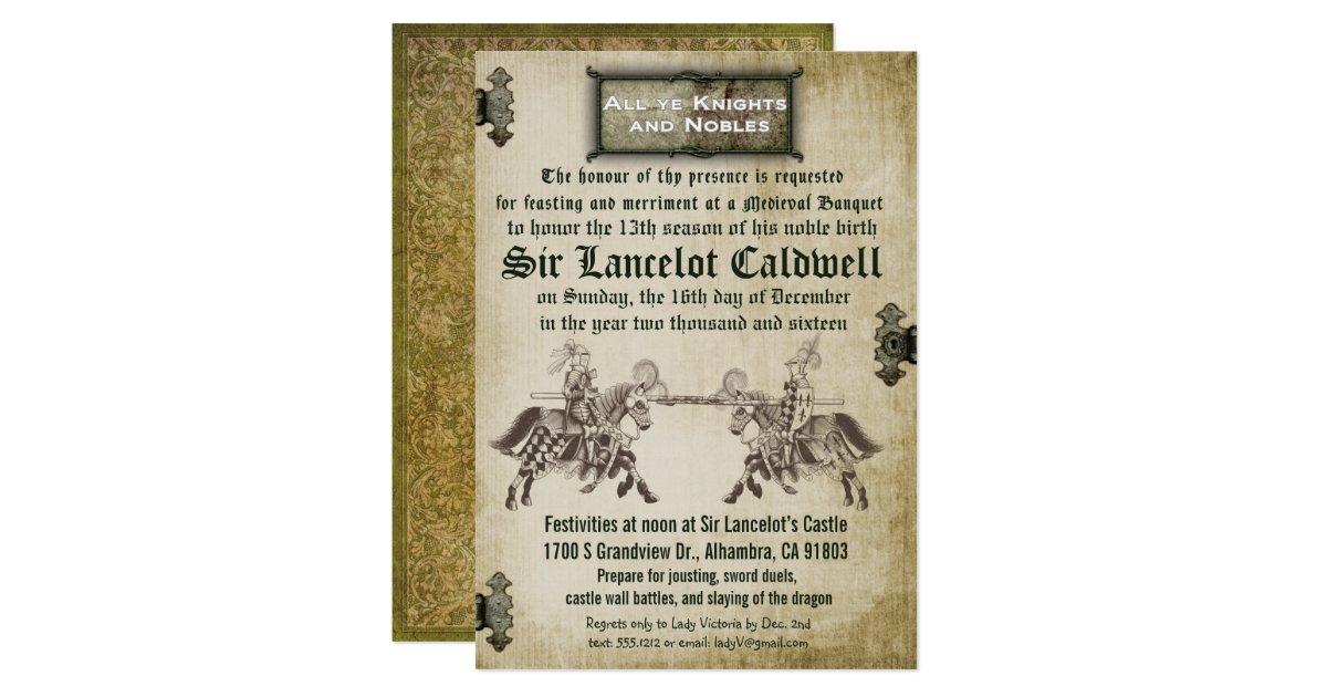 medieval renaissance birthday wedding invitation zazzlecom - Medieval Wedding Invitations