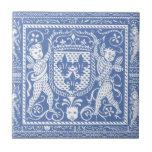 Medieval Renaissance Blue and White Cherubs Ceramic Tile